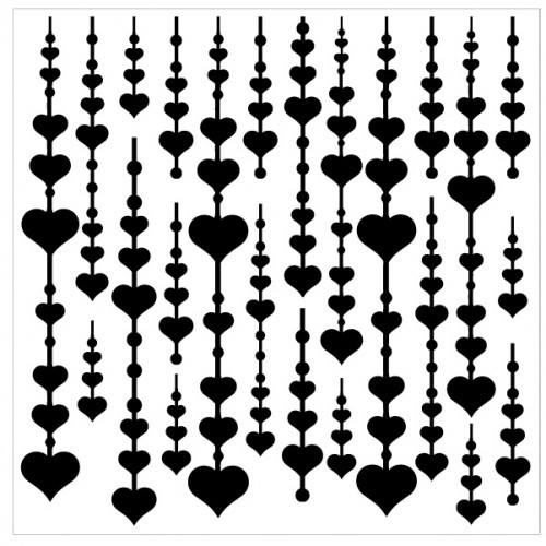 Falling Heart Stencil - Stencils