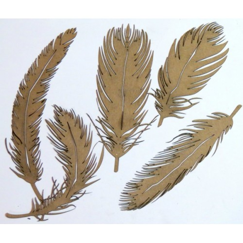 Feathers - Chipboard