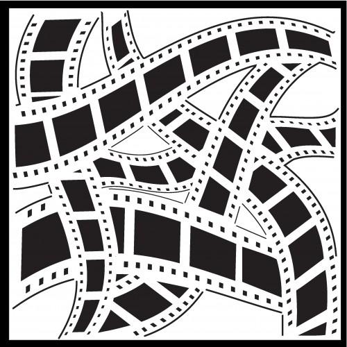 Film Strip Stencil - Stencils