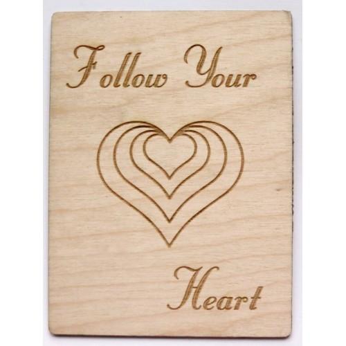 "Follow Your Heart - 3""x4"" Cards"