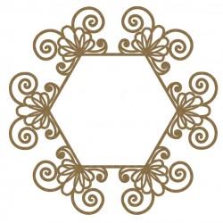 Intricate Hexagon Frame