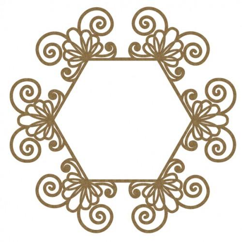 Intricate Hexagon Frame - Frames