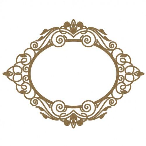 Oval Intricate Frame - Frames