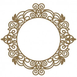 Intricate Circle Frame