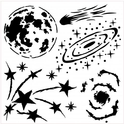 Galaxy Stencil - Stencils