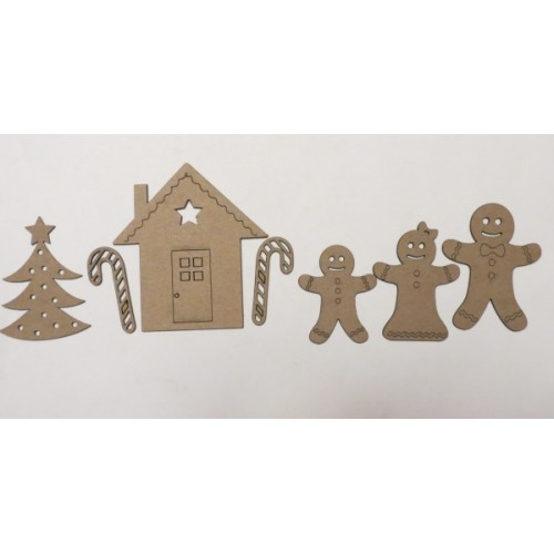 Gingerbread Family - Christmas