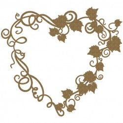 Grapevine Heart Frame