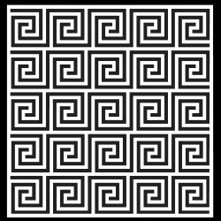 Greek Key Pattern Stencil