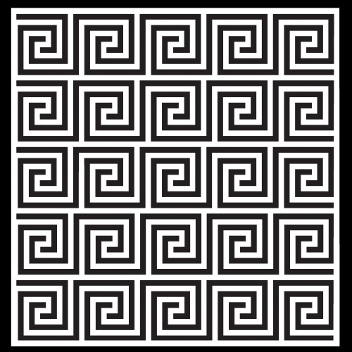Greek Key Pattern Stencil - Stencils