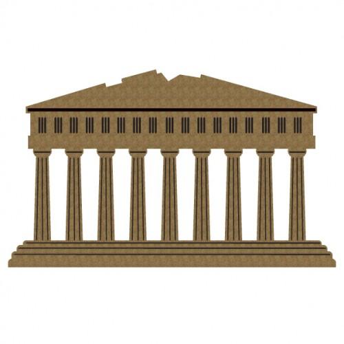 Greek Parthenon - Chipboard