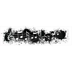 Grunge Music Note Border Stamp