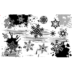 Grunge Snowflake Stamp