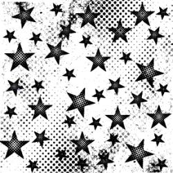 Grunge Stars Stamp