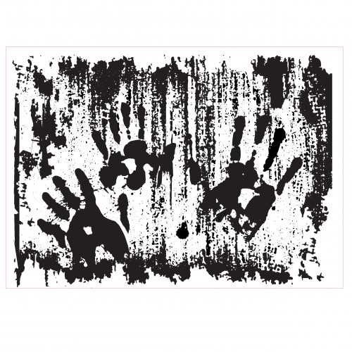 Bloody Hands Stamp - Rubber Stamps
