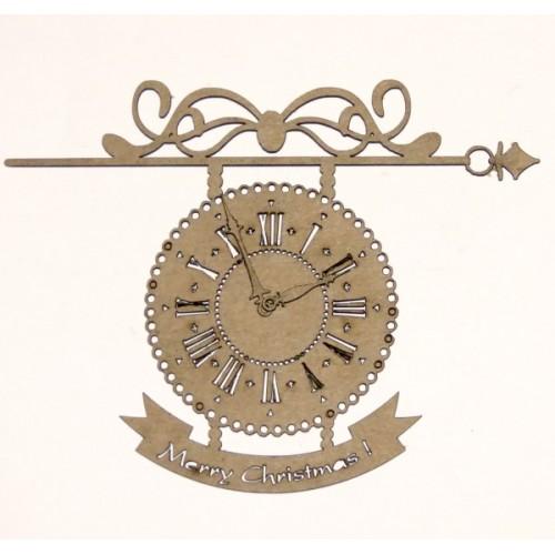 Hanging Christmas Clock - Christmas
