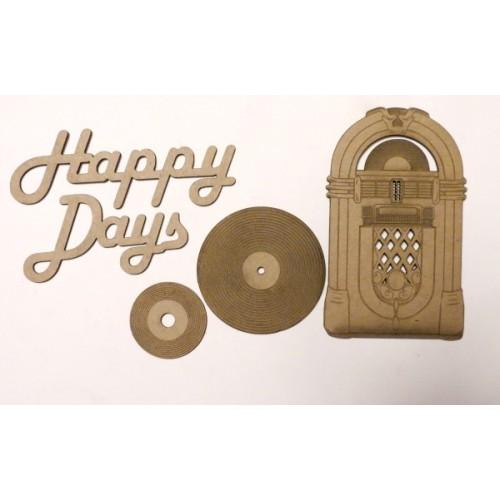 Happy Days - Chipboard