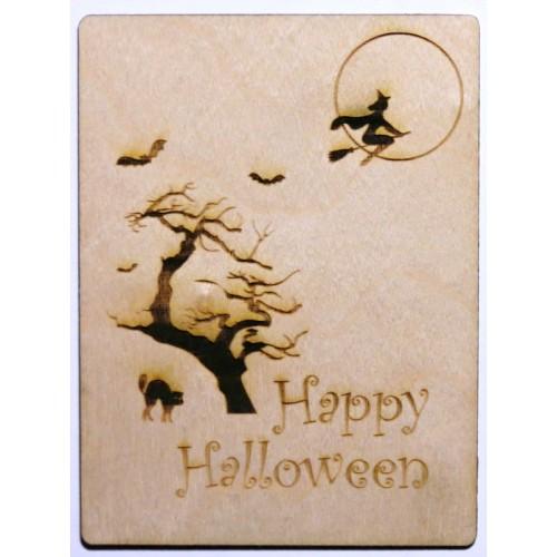"Happy Halloween 3 x 4 Card - 3""x4"" Cards"