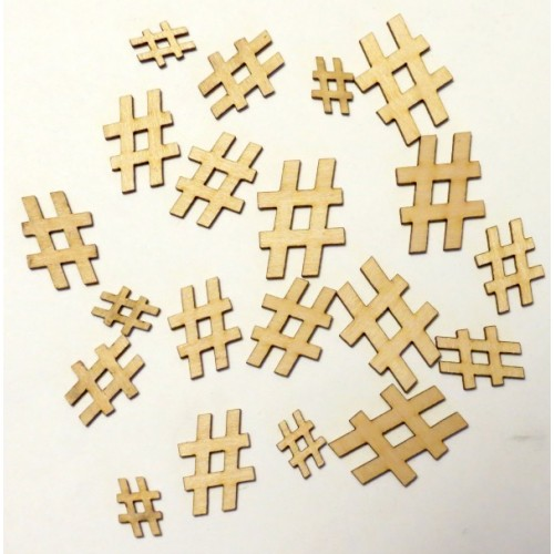 Hashtags - Wood Veneers