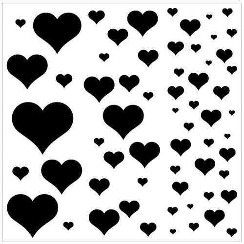 Heart Bokeh Stencil - Stencils