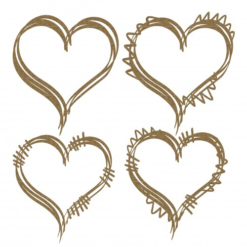 Heart Doodle Frames - Shapes