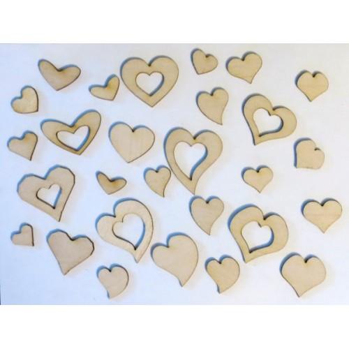 Hearts - Wood Veneers