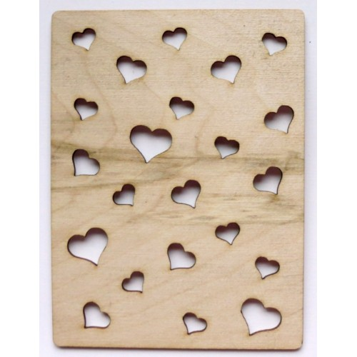 Hearts - Wood Veneers