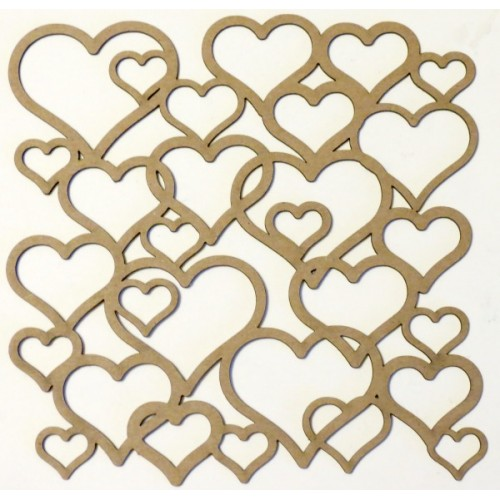 "Hearts Panel - 6"" x 6"" Lattice Panels"