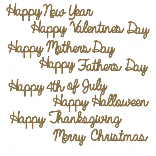 Holiday Sentiment Word Set - Words