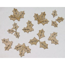 Holly Leaves Set of 15