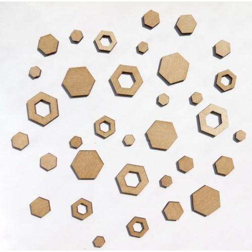 Hot Hexagons - Wood Veneers