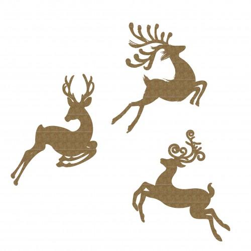 Jumping Deer - Christmas