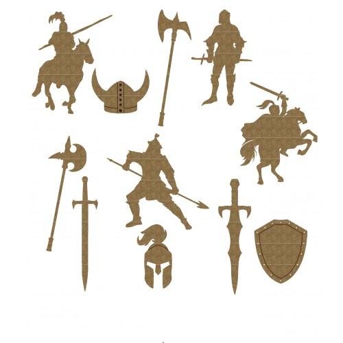 Knight Set - Chipboard