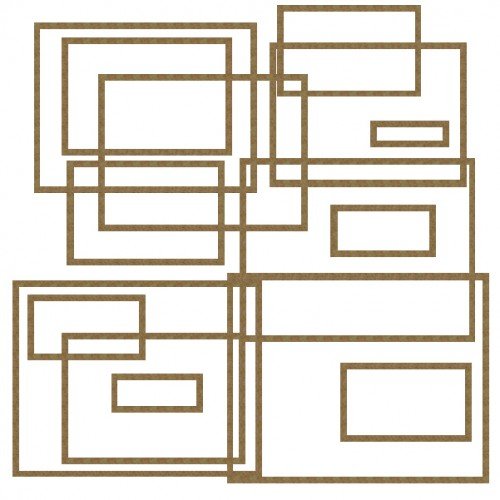 Large Nested Rectangles - Shapes