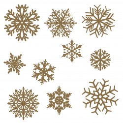 Large Snowflake Set