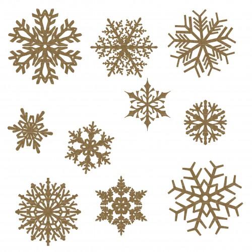 Large Snowflake Set - Winter