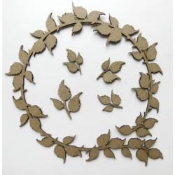 Leafy Circle Frame