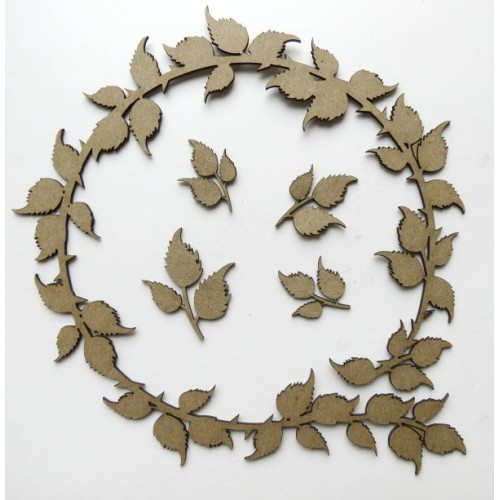 Leafy Circle Frame - Frames