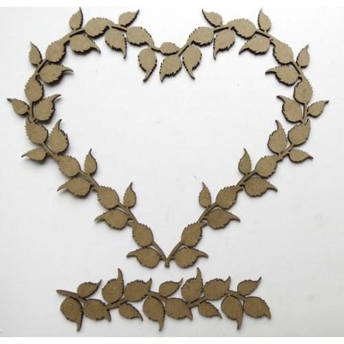 Leafy Heart Frame with Mini Flourish - Frames