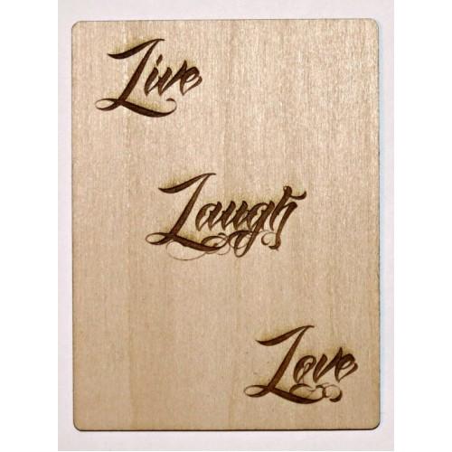 Live Laugh Love Card - Wood Veneers