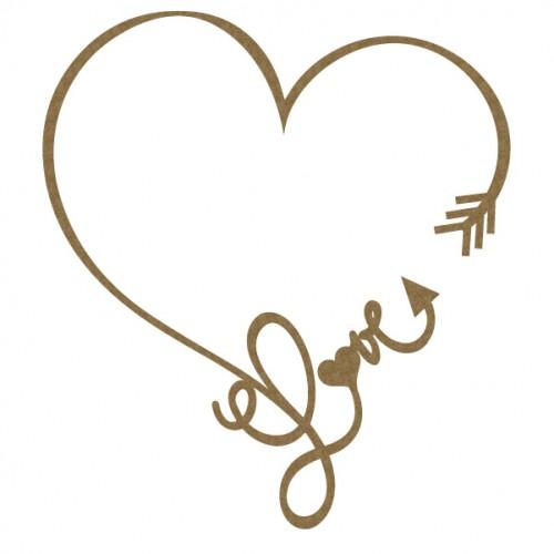 Love Heart Arrow Frame - Frames