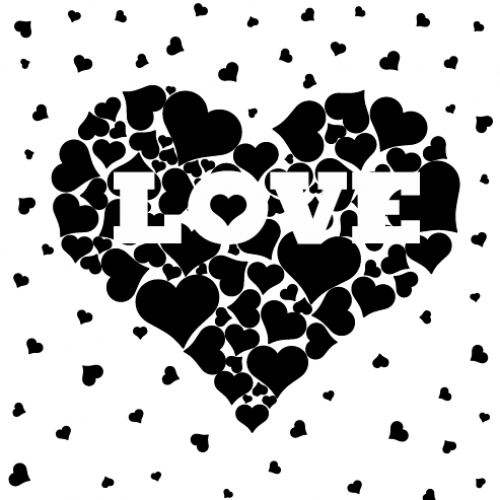 Love Heart Stamp - Rubber Stamps