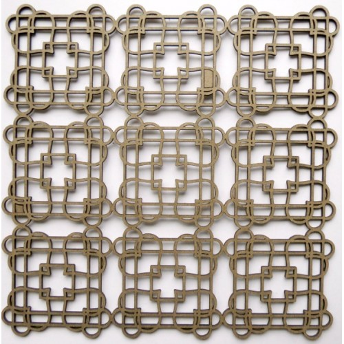 "Love knot Panel - 6"" x 6"" Lattice Panels"