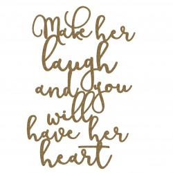 Make her laugh... quote