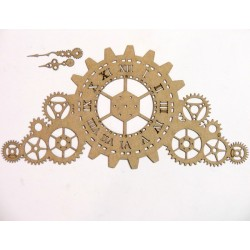 Mantle Steampunk Gear Timepiece