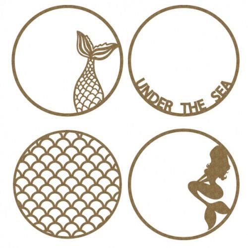 Mermaid Artist Trading Coins - Artist Trading Card / Coins