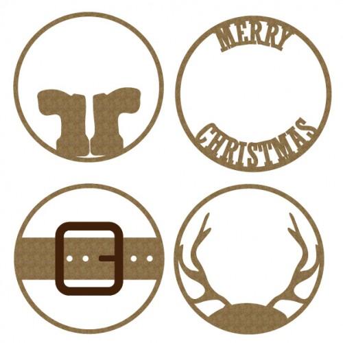 Merry Christmas ATC coins - Artist Trading Card / Coins