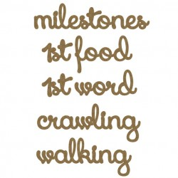 Milestones Word Set