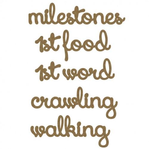Milestones Word Set - Baby