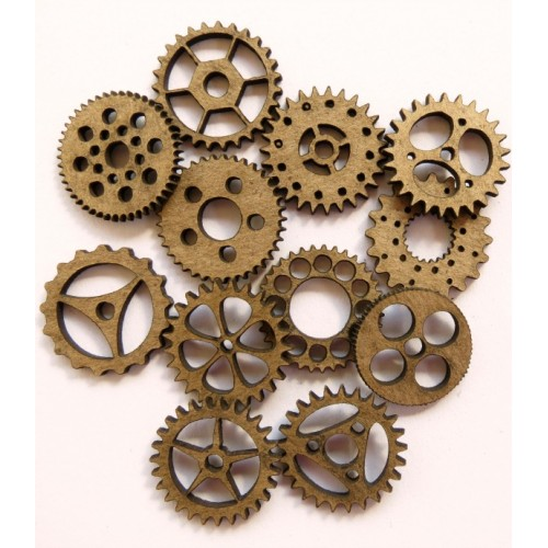 Mini Gears 3/4  (set of 12) - Steampunk