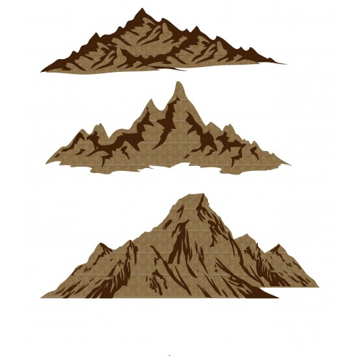 Mountains - Chipboard
